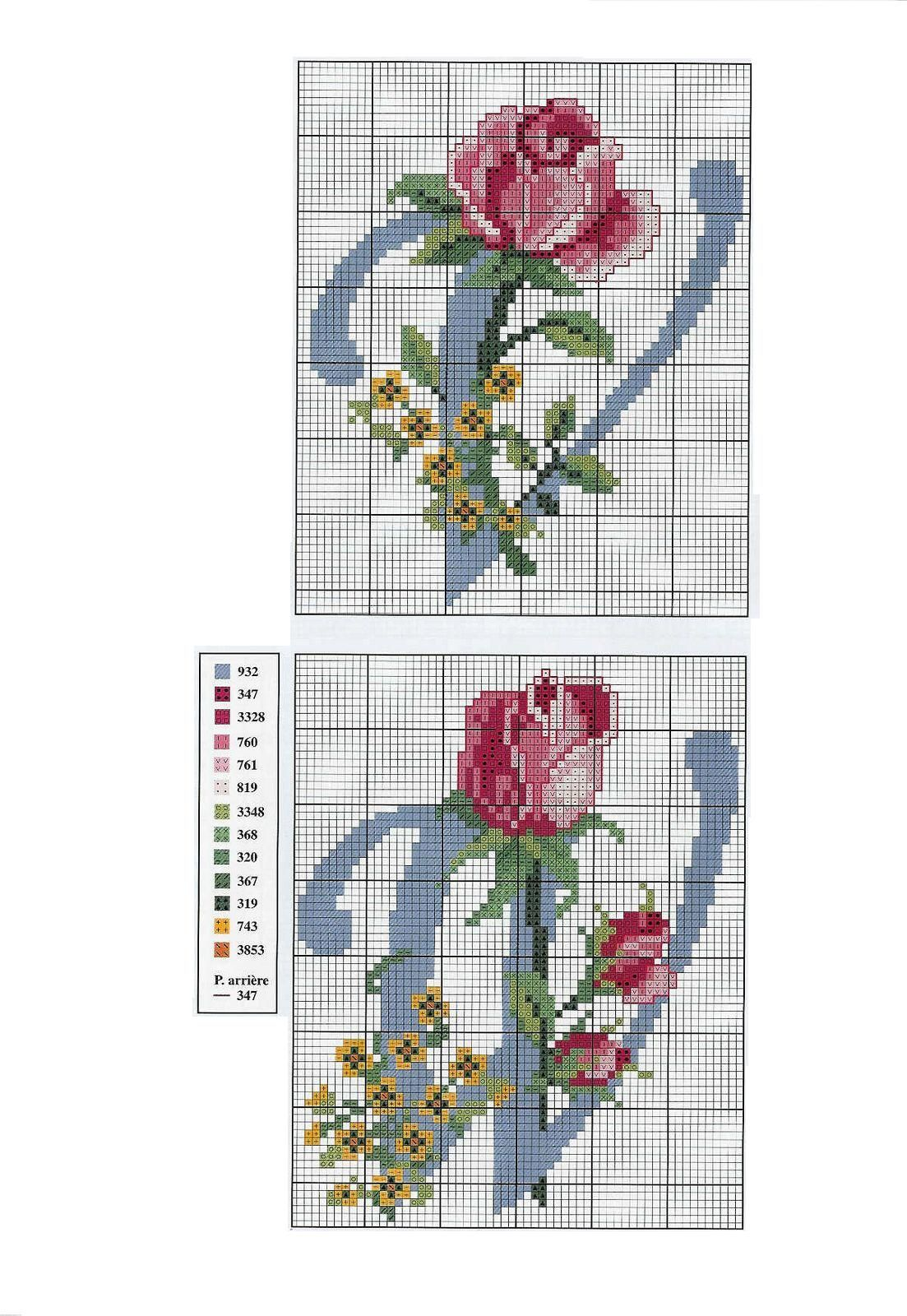 Marilda Croche: Belíssimo Monograma com Flores   LABORES   Pinterest ...