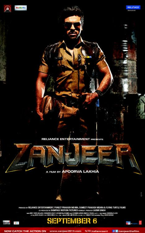 Zanjeer Poster Ram Charan In Amitabh Bachchans Look Indian