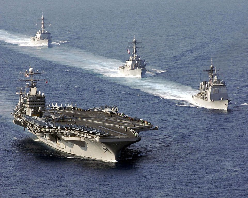 US Aircraft Carrier  | AubreyJ.org: US Aircraft Carrier USS Abraham Lincoln Enters Strait of ...
