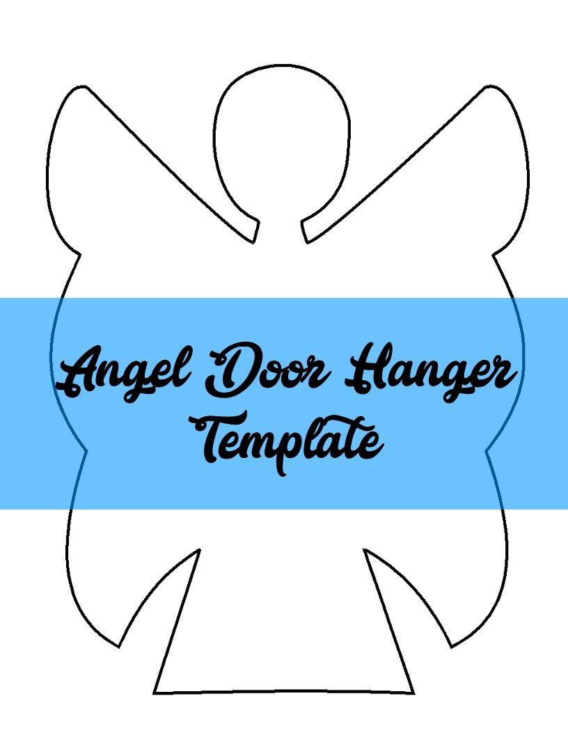 Angel Door Hanger TEMPLATE | Door Hanger Templates | Pinterest ...