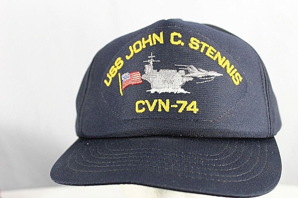 57d98bb2299 USS John C. Stennis CVN-74 Navy Baseball Hat Black Snapback Cap-10 USA   Cap10  BaseballCap