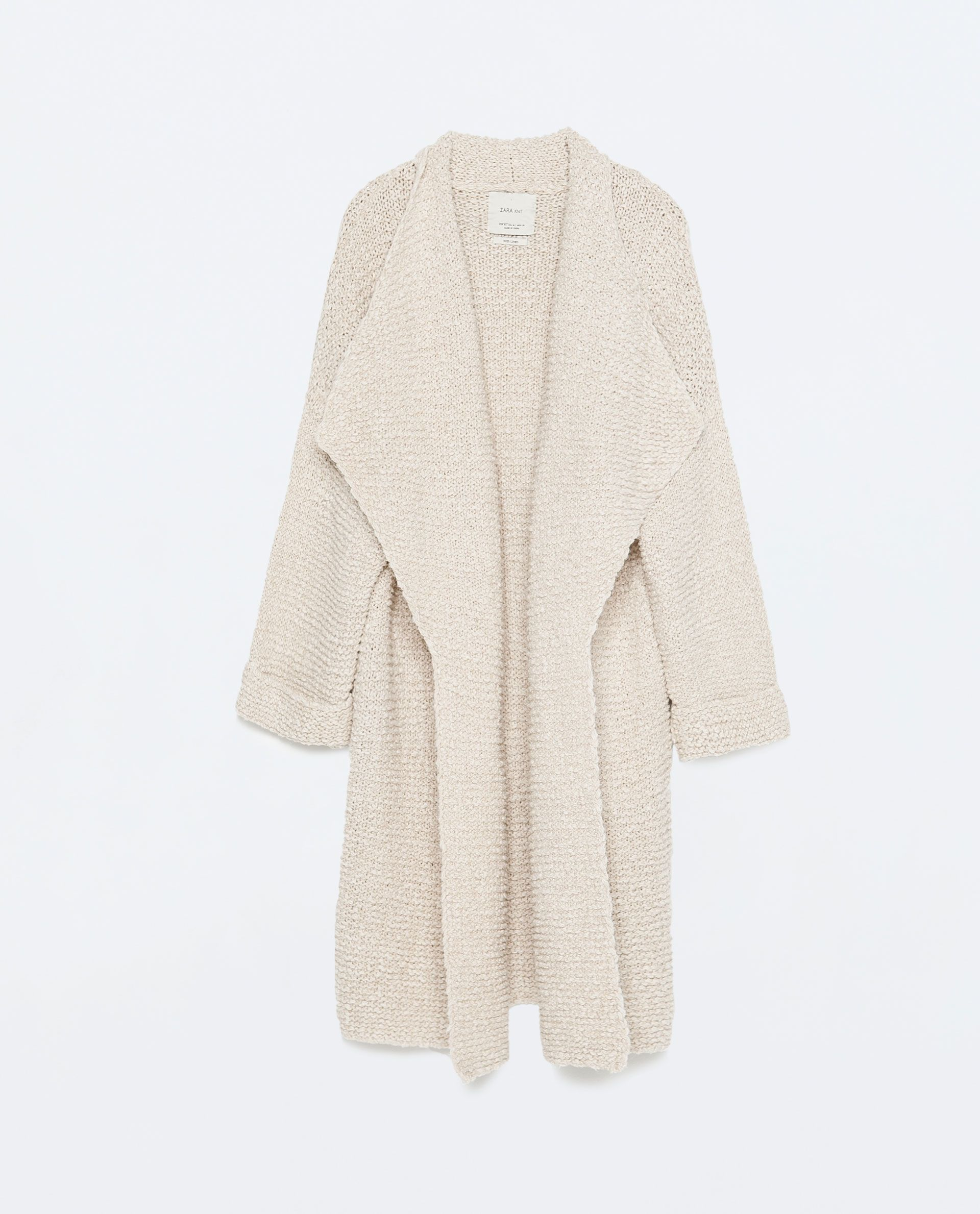 ZARA - WOMAN - LONG KNITTED CARDIGAN | spring lookbook | Pinterest ...