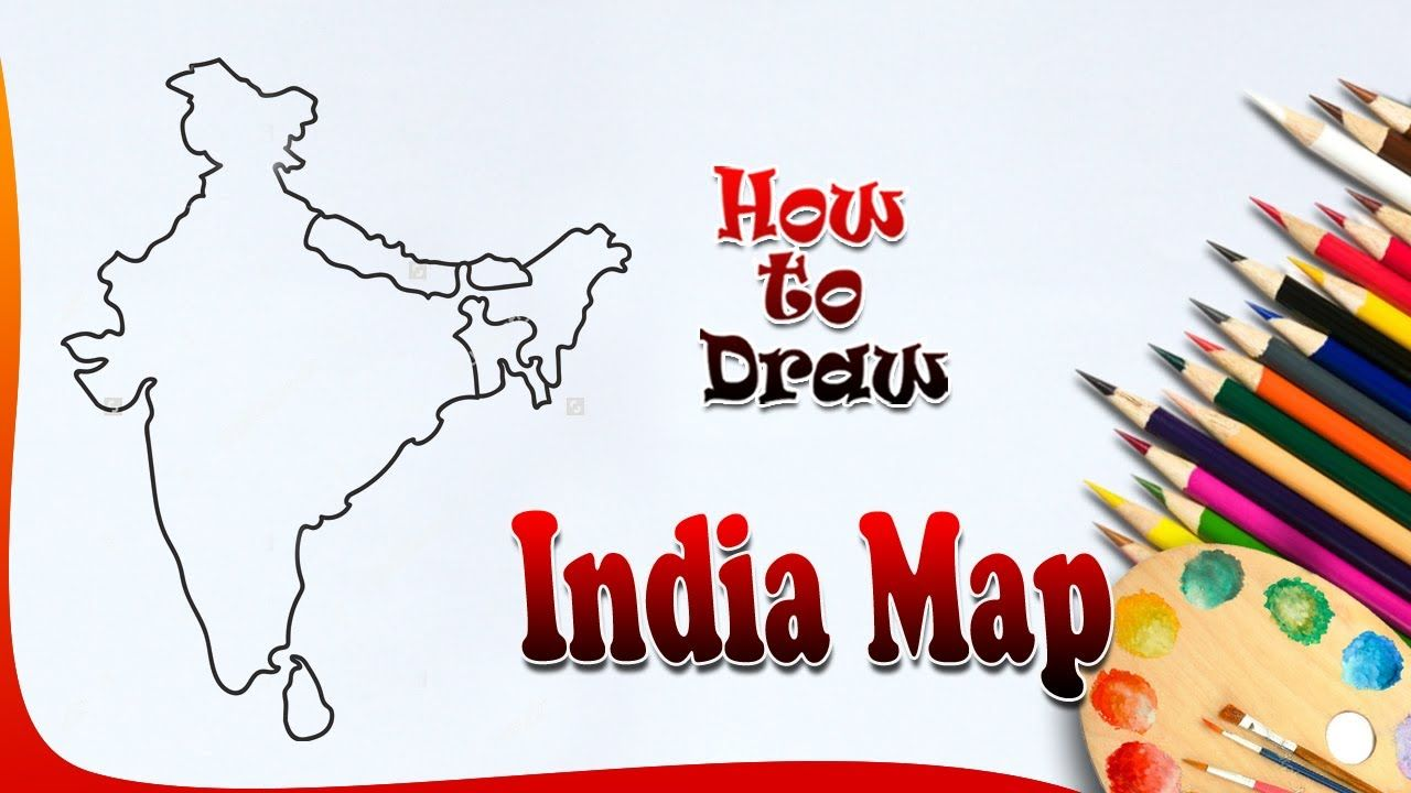 How To Draw India Map #Indiamap | Drawing For Kids | How To Paint India .