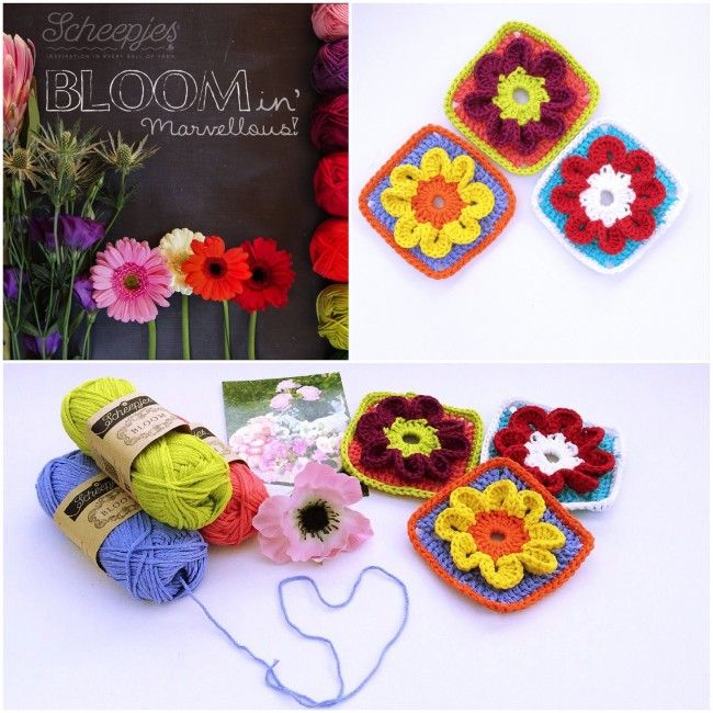Bloom A New Granny Square Design Made With Loops Granny