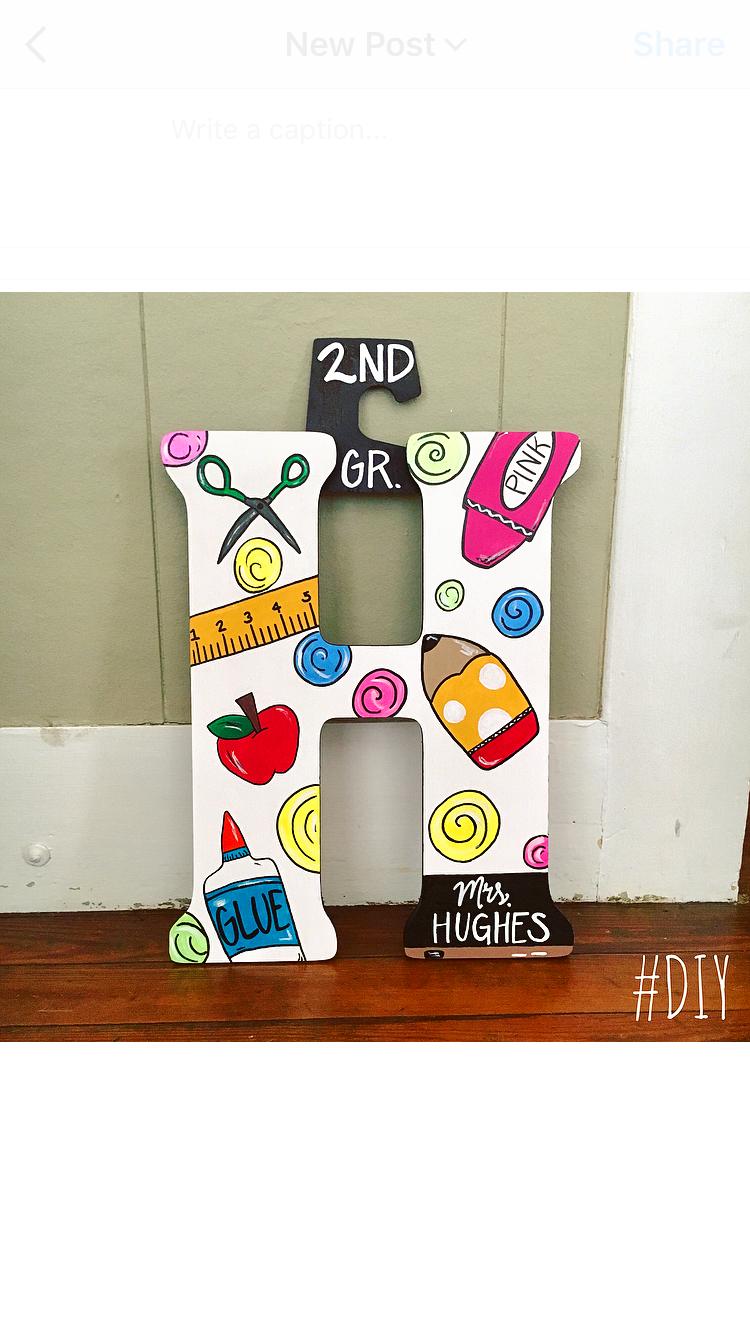 Diy Ginnyps Teacher Door Hanger For School Teacher Door Hangers Teacher Appreciation Diy Teachers Diy
