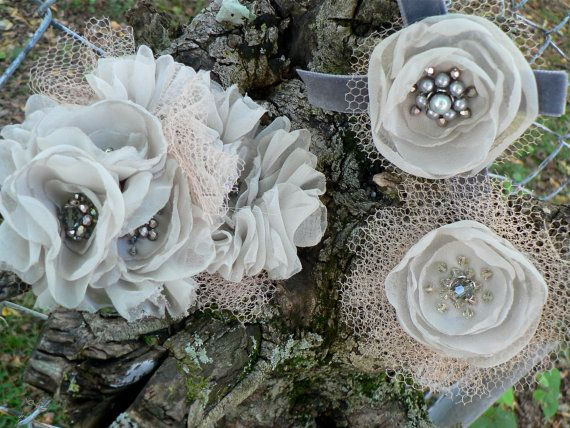 Simply Alice Flower Broach by jillzaleski on Etsy, $65.00