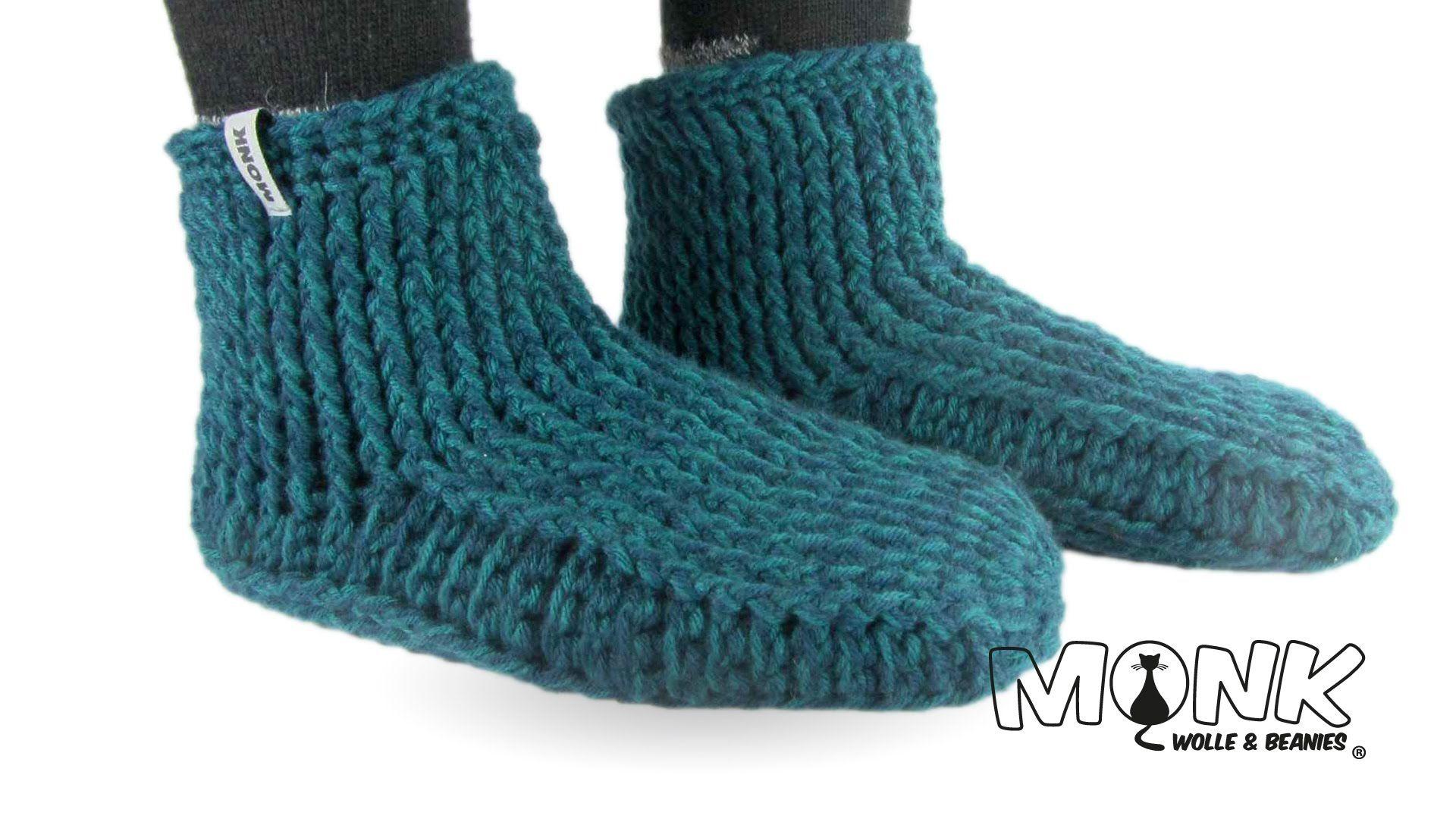 Monk-Gammlos (Hüttenschuhe) häkeln Teil 1   Knit & Crochet ...
