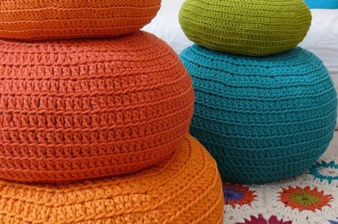 Poef Breien Makkelijk Tejidos Pinterest Knit Crochet Crochet