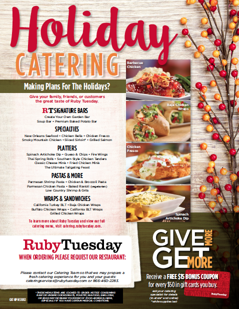 One of the Holiday inspired catering flyers I made for