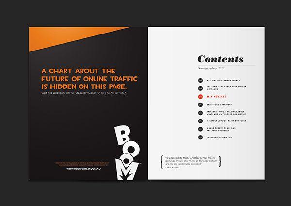 event brochure on behance design programmes pinterest