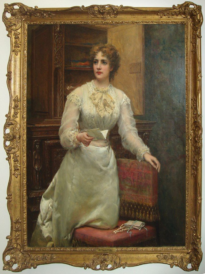 """Her Daily Love Letter"" by William Oliver featured in The Coutts Museum of Art"