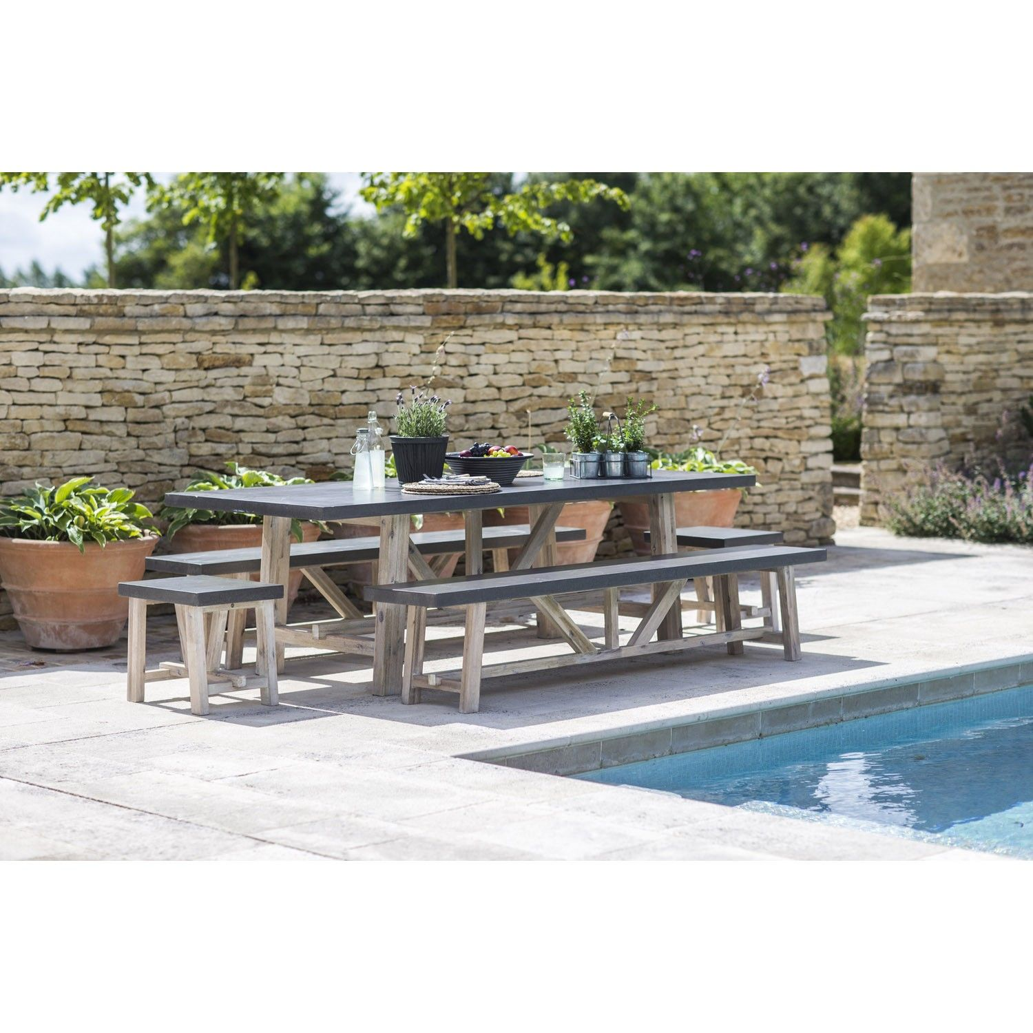 The Chilson Table And Bench Set Is Sure To Smarten
