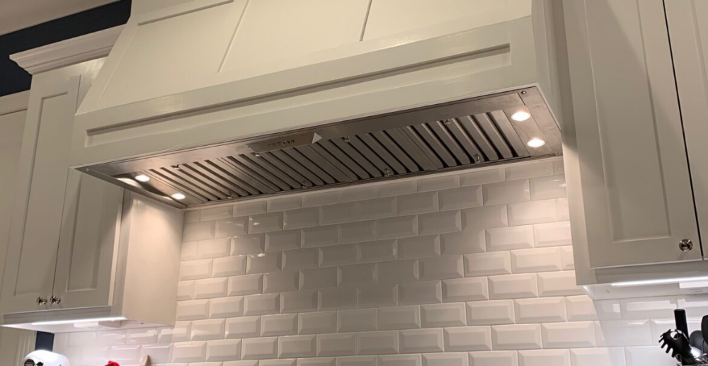 How To Install A Hidden Range Hood In Your Kitchen Beginning In The Middle Range Hood Kitchen Design Decor Installing Cabinets