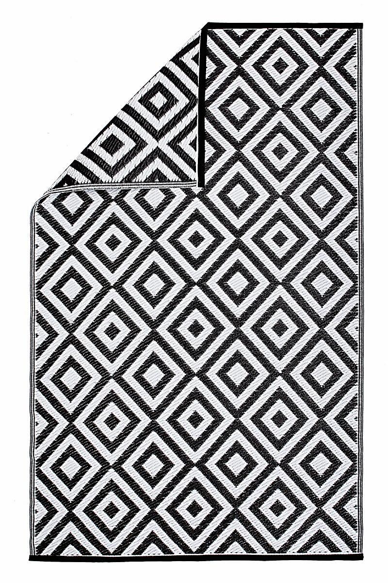 outdoor-teppich schwarz/weiß   teppich schwarz weiß, teppich ... - Wohnzimmer Teppich Schwarz Weis