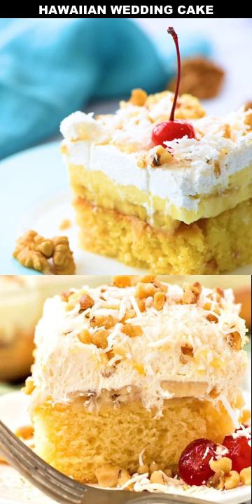 Hawaiian Wedding Cake Video Savoury Cake Cake Recipes Hawaiian Wedding Cake