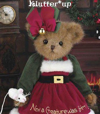 "Bearington Bears Christmas   Bearington Bear CHRISTY CHRISMOUSE 14"" Christmas Girl #173186 NEW FALL ..."