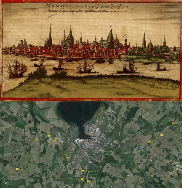 Wismar germany map then1572 and now2016 oldcities oldmaps wismar germany map then1572 and now2016 oldcities oldmaps httpold cities worldspot201602wismar germany map then1572 and now2016 gumiabroncs Image collections