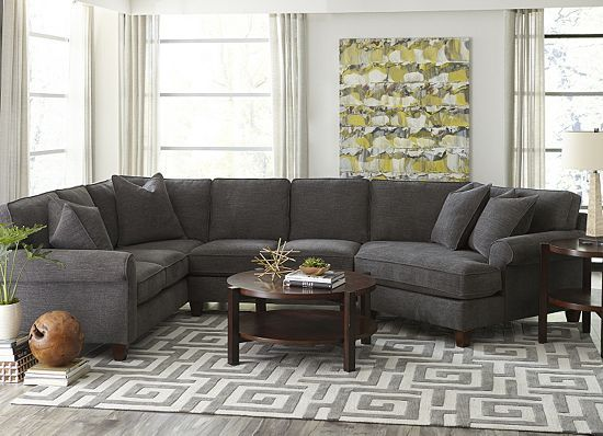 Living Rooms, Corey Sectional, Living Rooms | Havertys Furniture - Corey Sectional Havertys House Stuff To Buy Pinterest