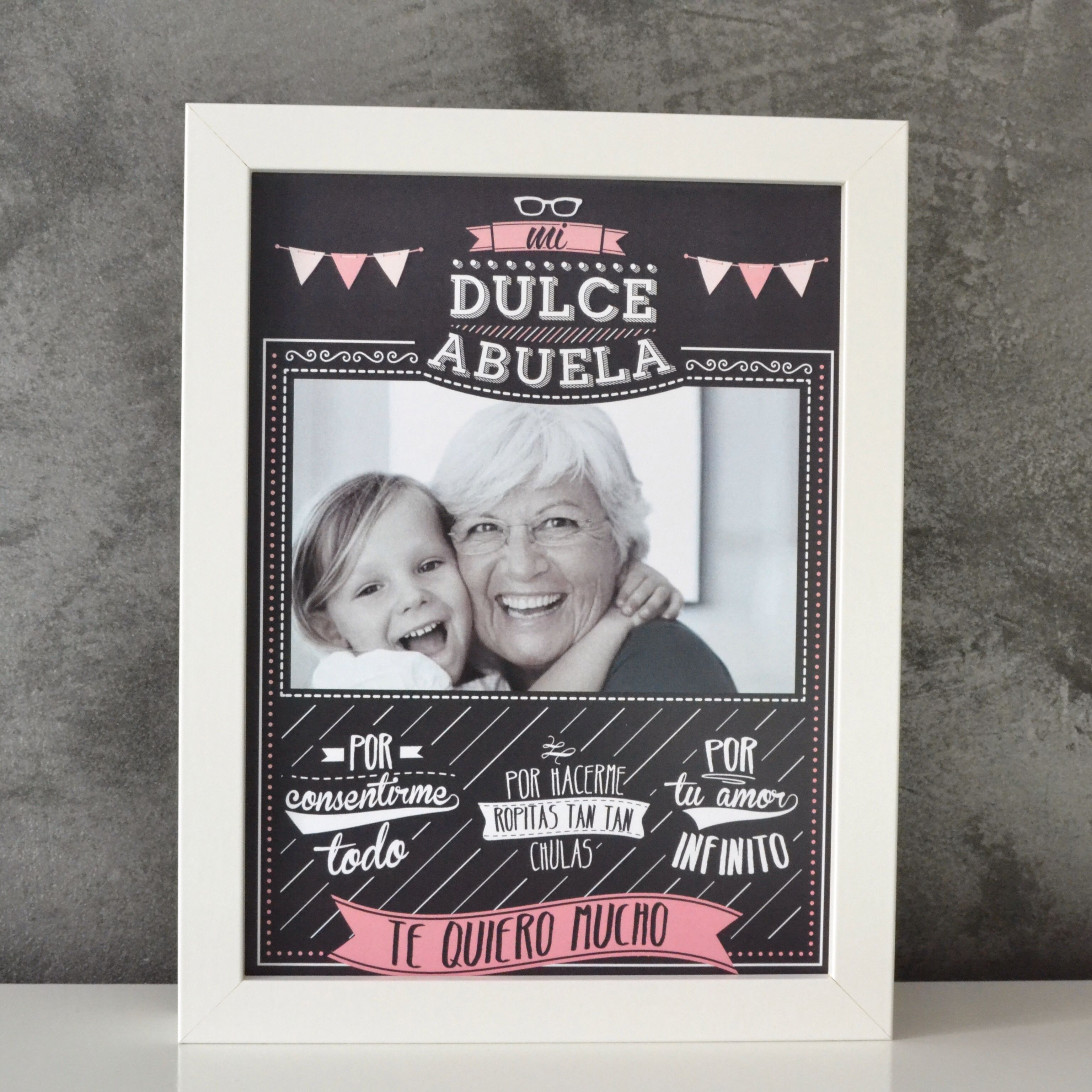 Original cuadro para decirle a tu dulce abuela lo mucho for Regalos abuela ideas