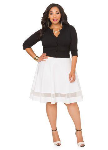 5bdfad67dc9 Scuba Mesh Circle SkirtWork to Party · Plus Size OutfitsWork ClothesSheath  DressCirclesAshley StewartFall ...