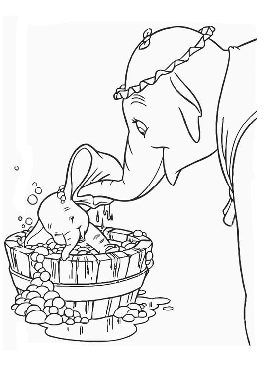 Coloring page Dumbo | good for kids | Pinterest | Colorear ...