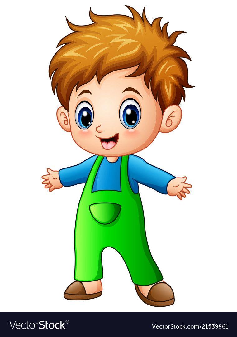 Cute Little Boy Cartoon Vector Image On Vectorstock Boy Cartoon Drawing Boy Cartoon Characters Little Boy Drawing