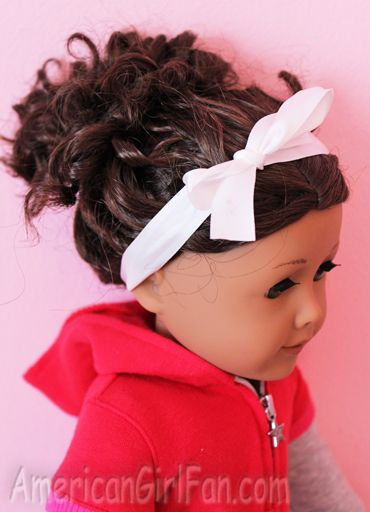 Hair Care And Styles Curly Bun Style American Girl