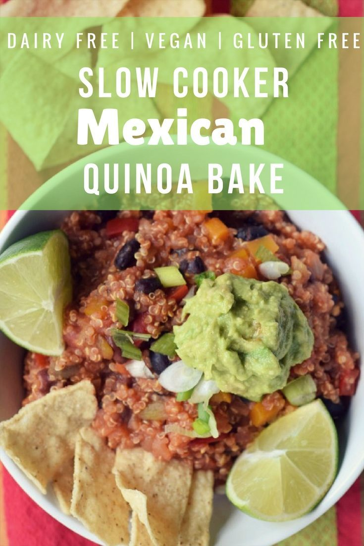 Slow Cooker Mexican Quinoa Vegan Dairy Free Gluten Free