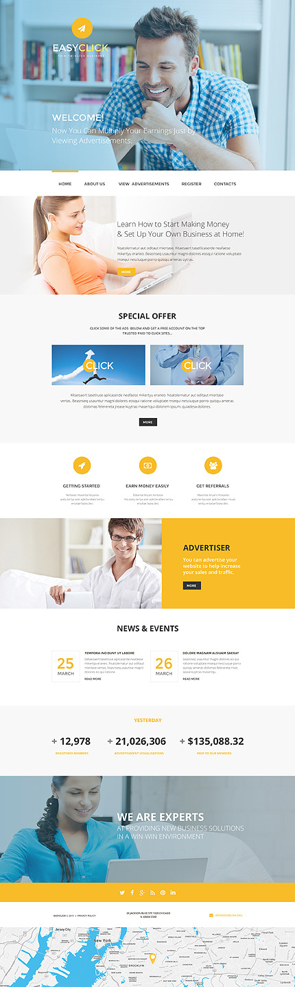 Pay-To-Click Business #website #template #themes #business - pay template