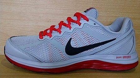 Kode Sepatu Nike Dual Fusion Run 3 Grey Red Ukuran Sepatu 40 5