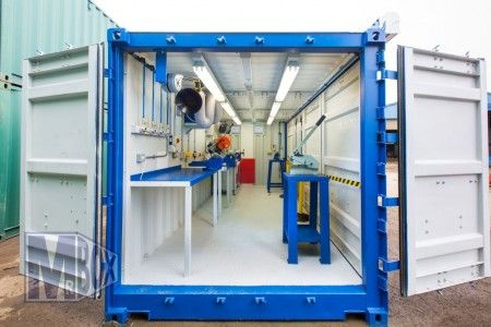 Container House Opensided Shipping Container Workshops