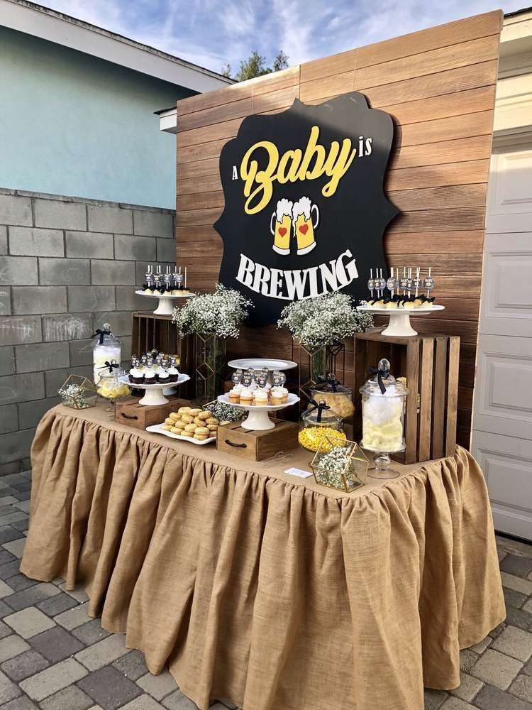 A Baby Is Brewing Baby Shower Party Ideas Photo 4 Of 12