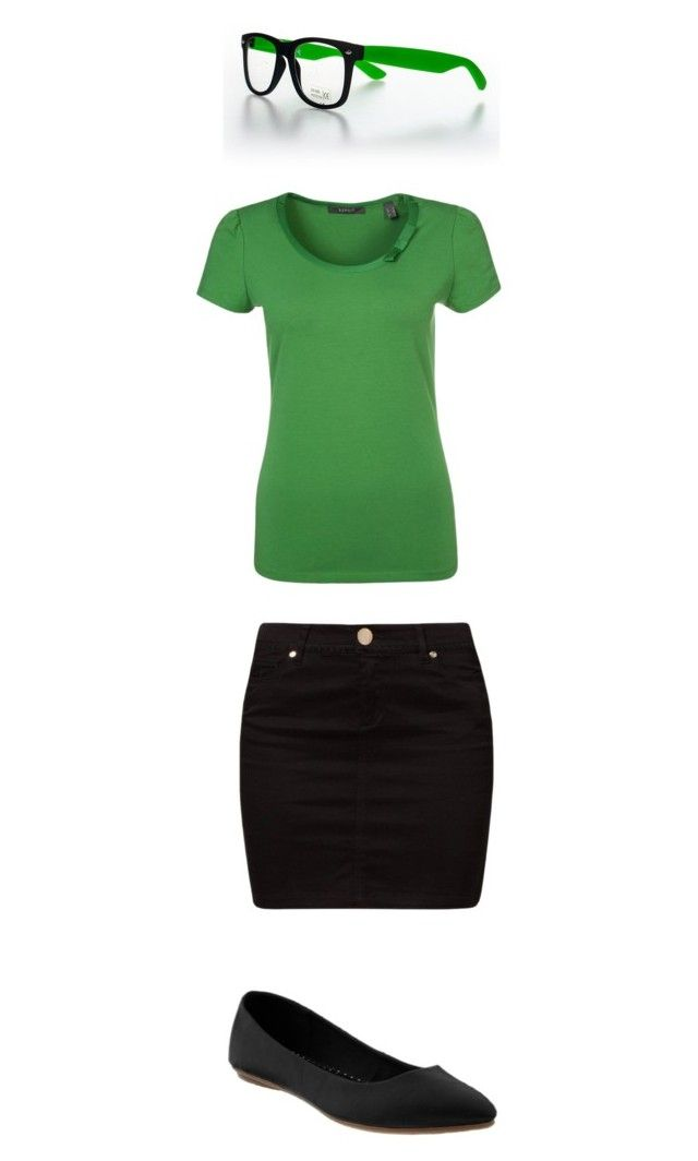 """""""Nerd?"""" by abagailsullivan ❤ liked on Polyvore featuring Morgan, ESPRIT and Old Navy"""