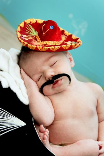 AWWWW! My heart just exploded from the cuteness! Love the mustache.