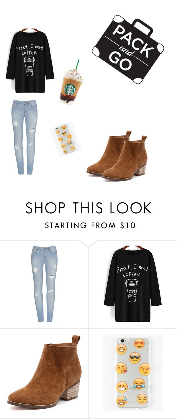 """""""Packing go Starbucks"""" by andressgirls ❤ liked on Polyvore featuring Ankit"""
