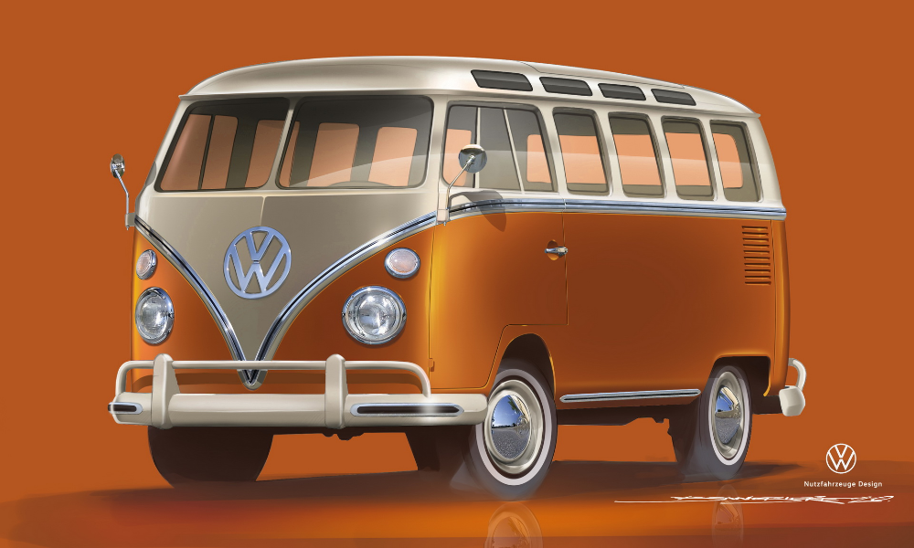 1966 Vw T1 Samba Bus Taps Into Modern Ev Tech Gains E Bulli Moniker Carscoops In 2020 Bus Vw Commercial Commercial Vehicle