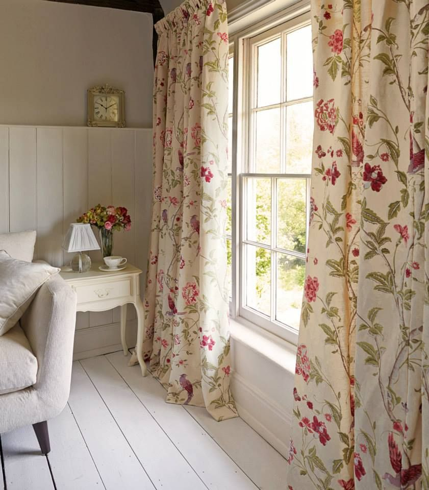 English Country Curtains Living Room Pretty Living Room Living Room Decor Curtains