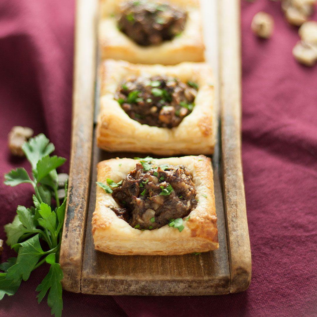 Vegan Wedding Food: Vegan Mushroom And Black Walnut Tartlets