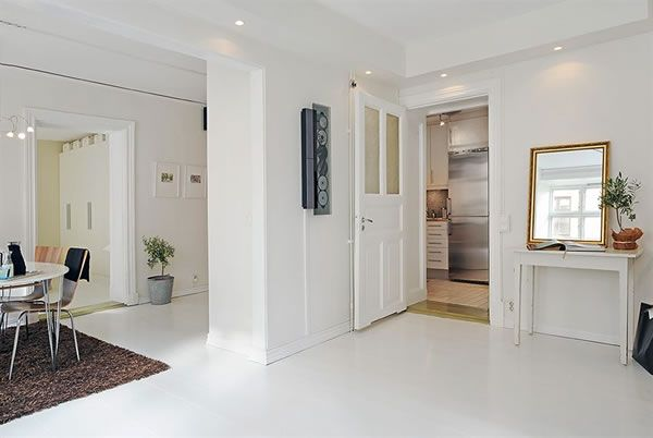 Modern Minimalist Swedish White Apartment Interior Design Simple