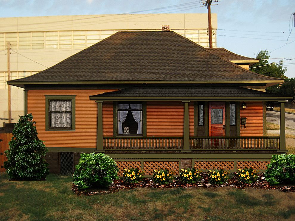 Exterior paint color schemes exterior craftsman with for Craftsman exterior color schemes