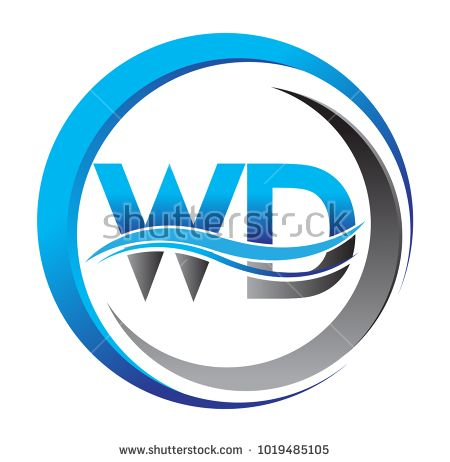 initial letter logo WD company name blue and grey color on circle - fresh undertaking letter format for company