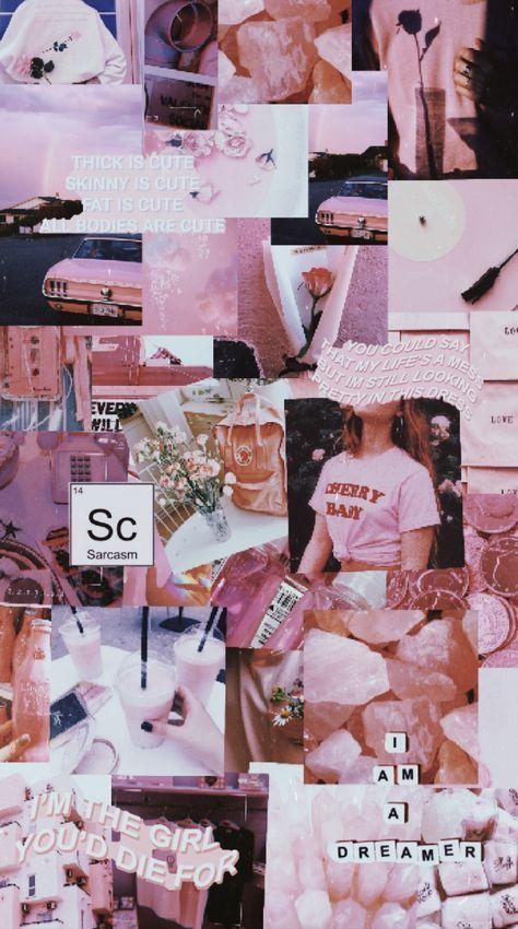 Wall Paper Ästhetische Collage Rosa 63+ Ideen