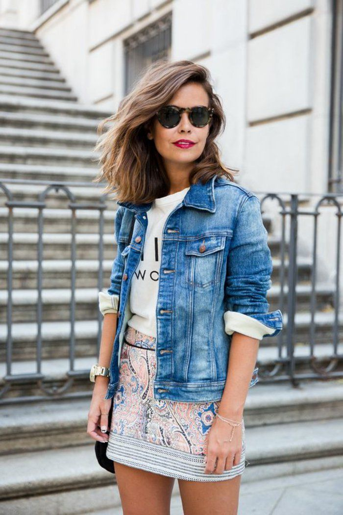 81 coole damen jeansjacke modelle - denim jacket outfit