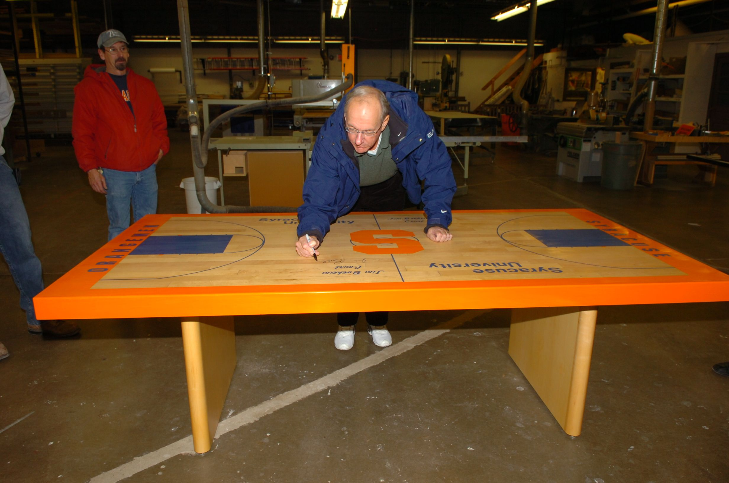 Jim Boeheim table. Syracuse University Table, Ping pong