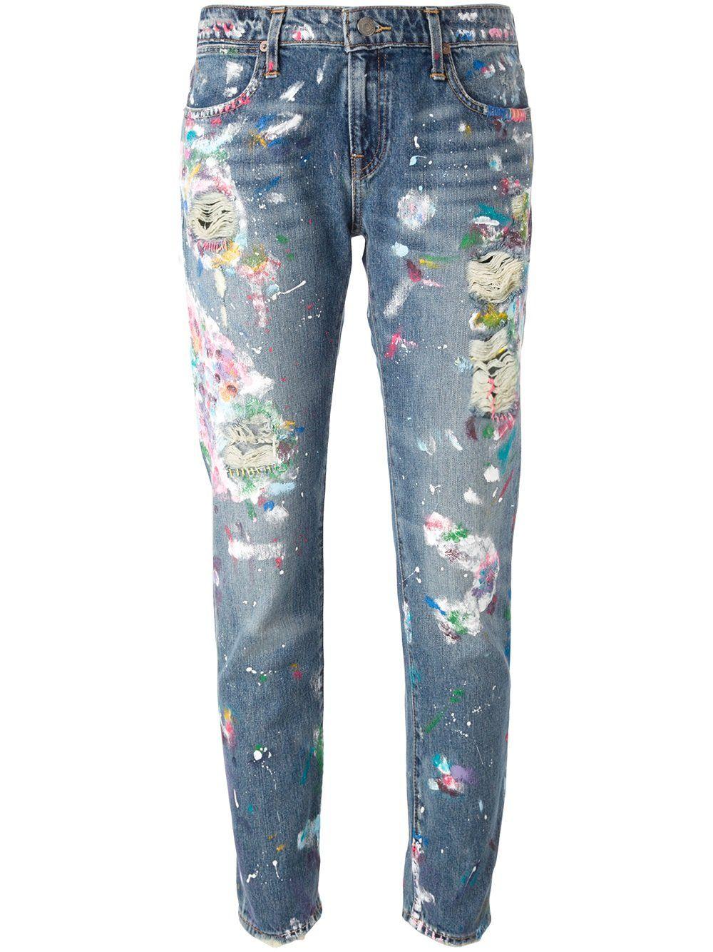Polo Ralph Lauren distressed paint splatter jeans   Tees   Jeans ... 09ab889917b