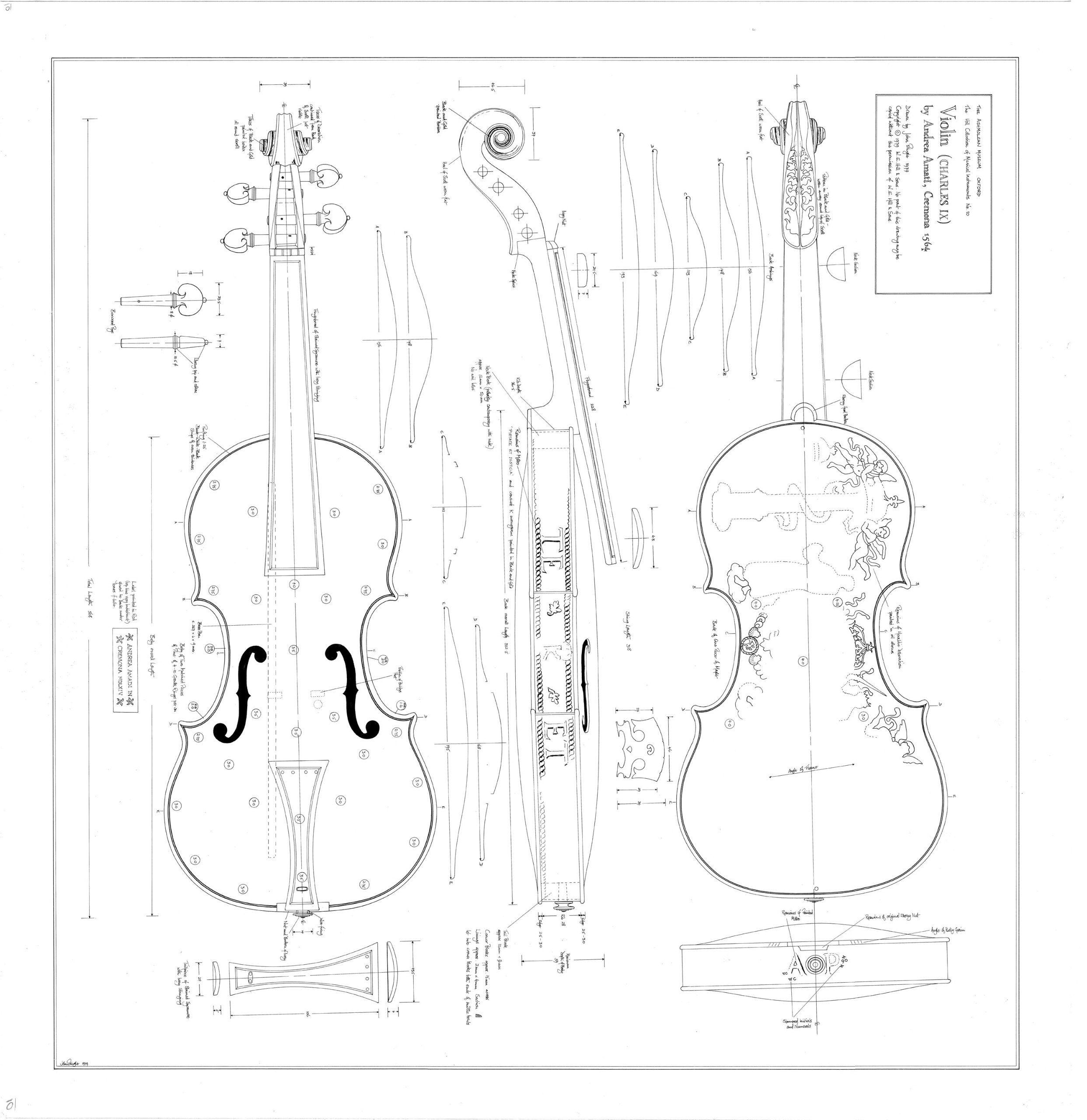 Stradivari drawing - | violin | Pinterest | Drawings ...
