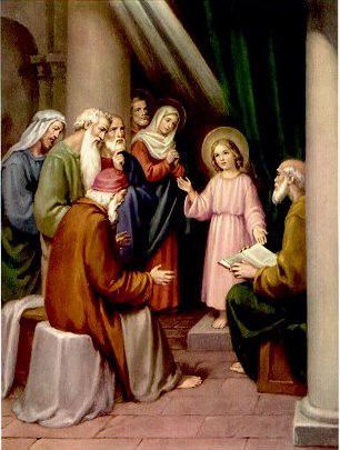 ENCONTRO DE JESUS NO TEMPLO ENTRE OS DOUTORES DA LEI.   Jesus no templo,  Santo rosário, Templo