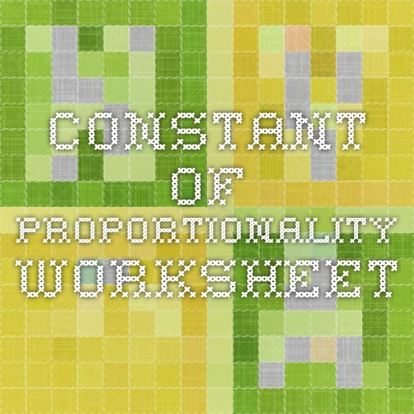 Constant Of Proportionality Worksheet Math Rates And Proportions