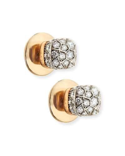 POMELLATO Nudo 18K White & Rose Gold and Diamond Earrings nNblwgR