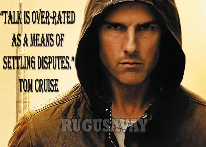 Picture Quotes About Cruising: Tom Cruise Quotes